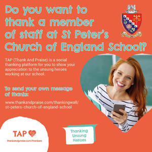 St Peter's Church of England School   web ad