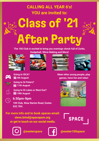 100 Club Class of 2021 Afterparty
